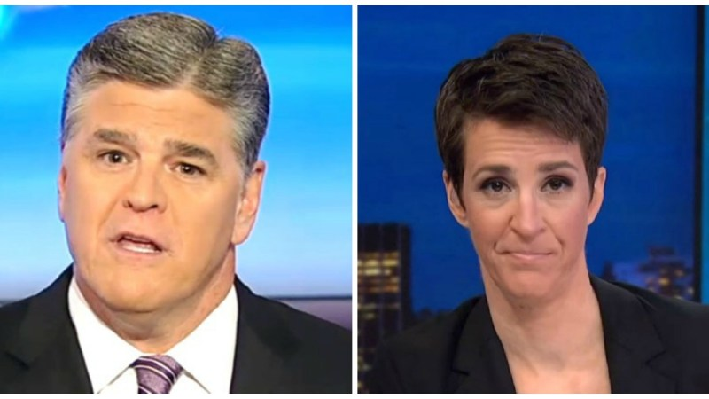 Hannity Most-Watched Cable News Show Thursday, Maddow Second In Total Viewers