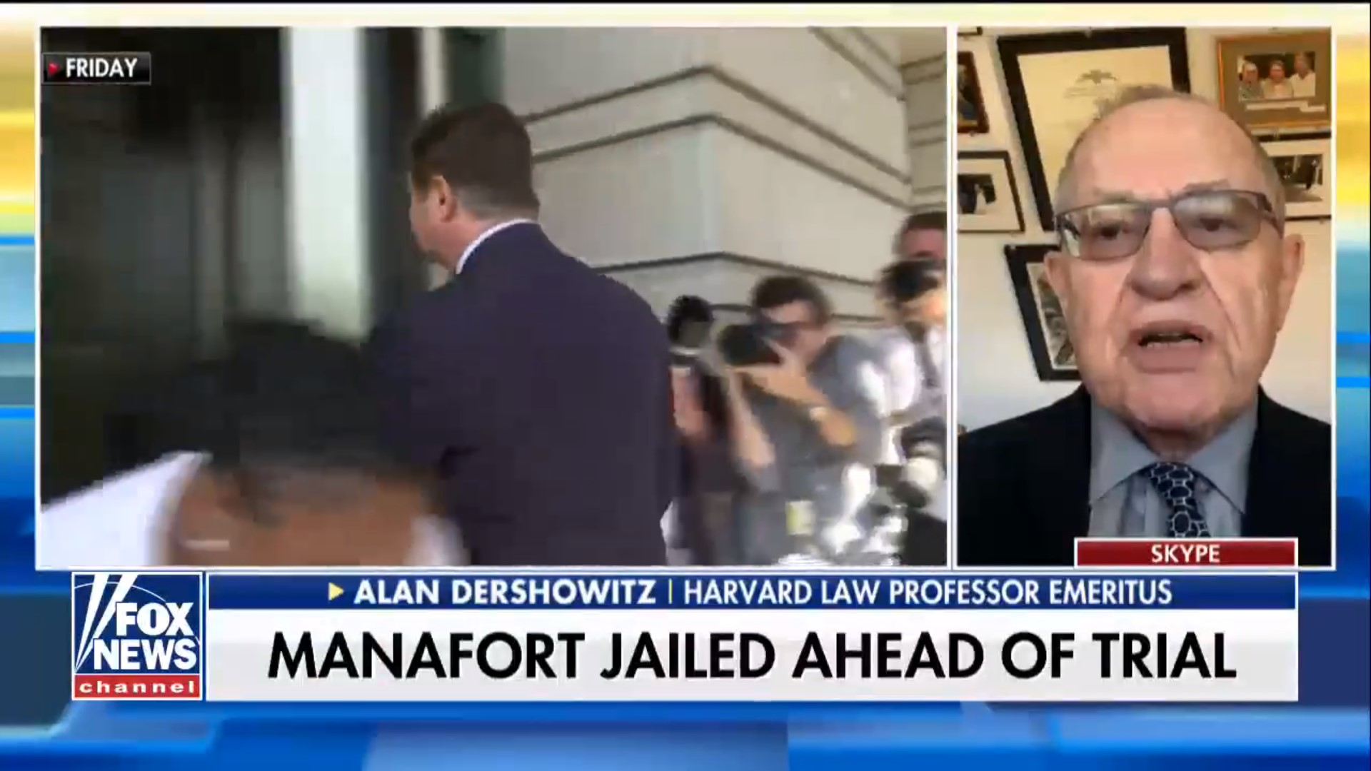 Alan Dershowitz Takes Heat Over Complaints That Paul Manafort Was Wrongly Jailed