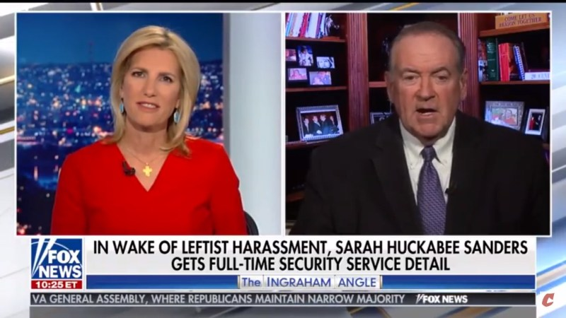Mike Huckabee Compares His Daughter's Red Hen Experience To 'What We Saw At Lunch Counters In The '60s'