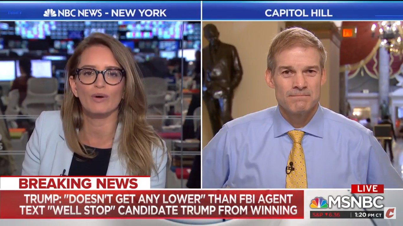 Rep. Jim Jordan Refuses To Answer When Katy Tur Asks If He's OK With Trump Lying
