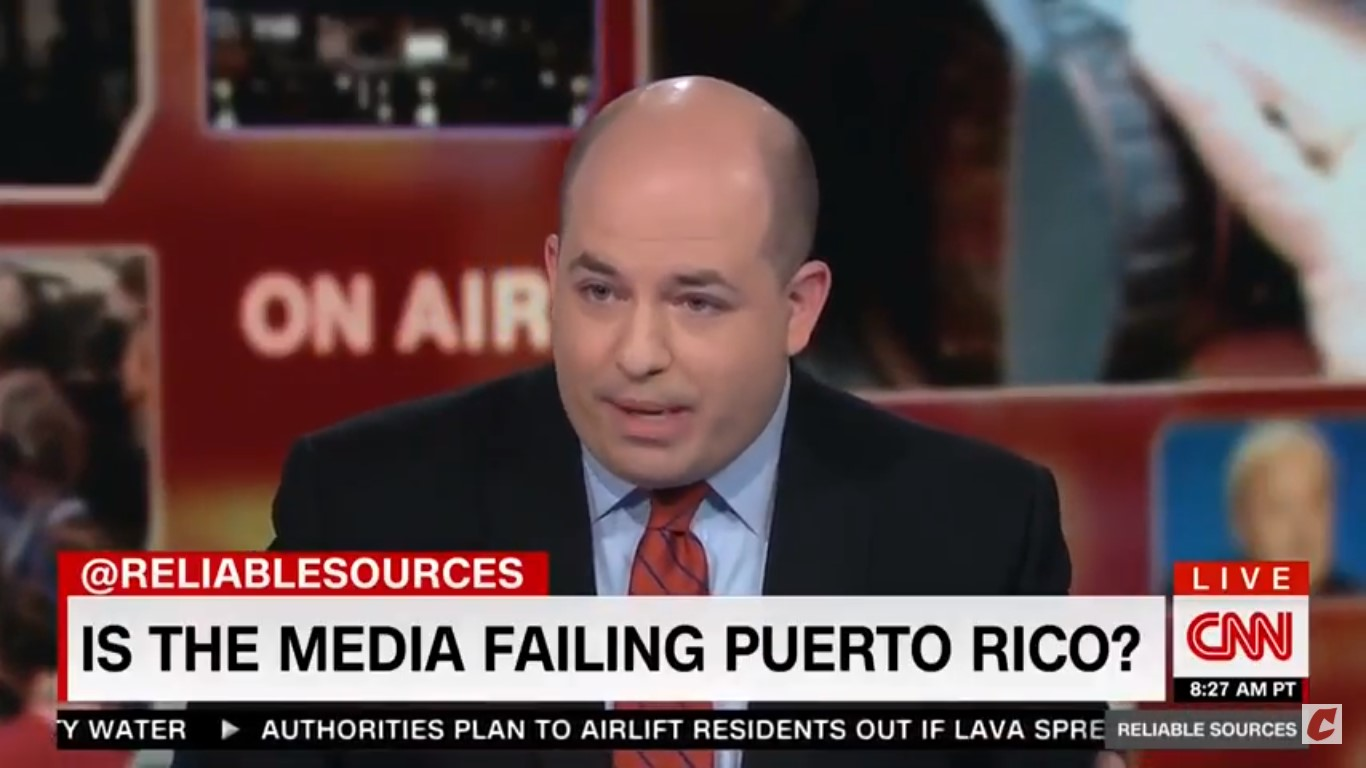 CNN's Stelter: Why Did Roseanne Controversy Overpower Story About Puerto Rico Death Toll?