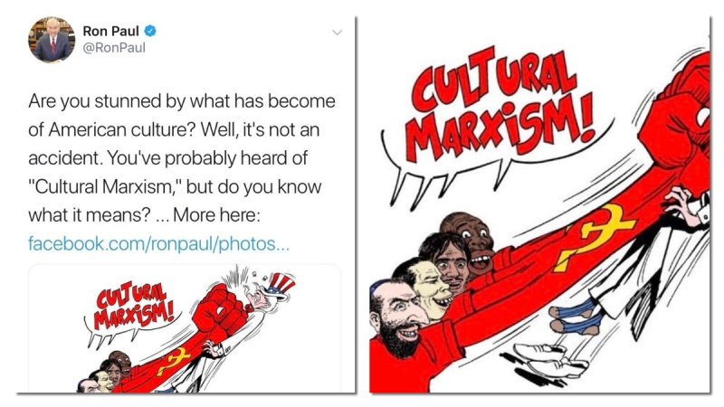 Ron Paul Under Fire After Tweeting, Then Deleting, Extremely Racist 'Cultural Marxism' Cartoon