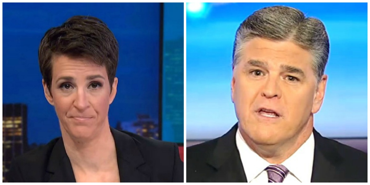 Maddow Trounces Hannity In Wednesday Night Ratings, Leads Cable TV in Total Viewers
