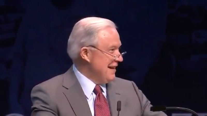 As Conservative High-Schoolers Chant 'Lock Her Up,' Jeff Sessions Laughs And Repeats Phrase