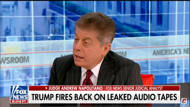 Fox's Judge Napolitano: Cohen-Trump Tape Shows Trump Was Engaging In 'Civil Fraud'
