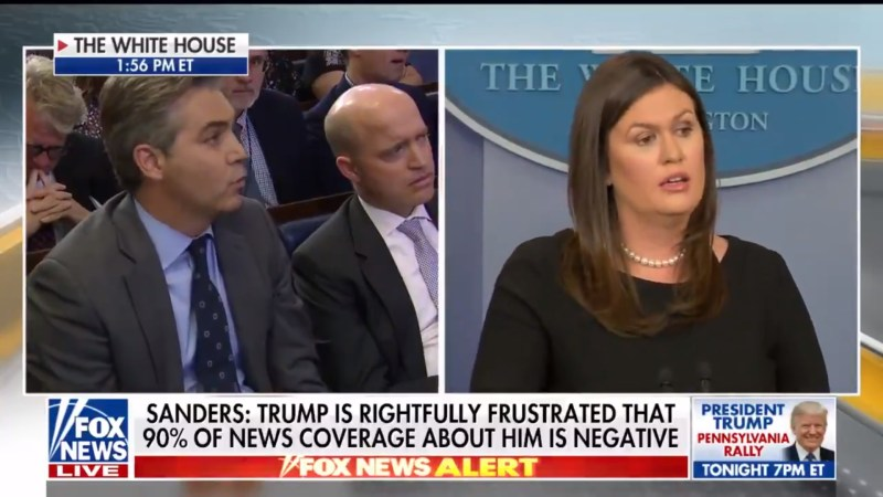 Sarah Sanders Refuses To Say That The Media Is Not The 'Enemy Of The People'