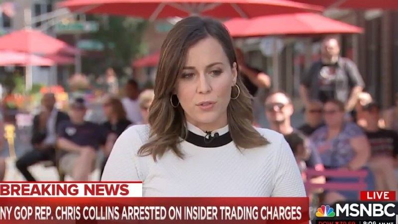 WATCH: MSNBC Live Audience Cheers After Hallie Jackson Reports On Rep. Chris Collins' Arrest