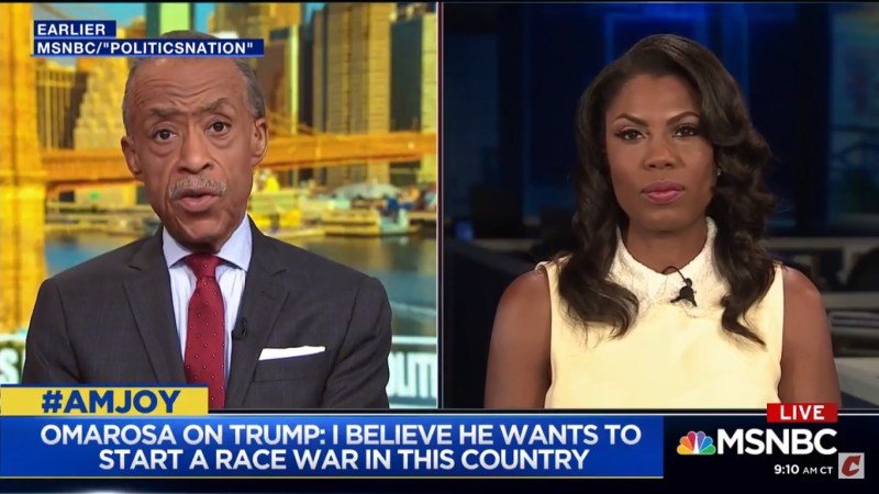 Omarosa On Trump: 'I Believe He Wants To Start A Race War In This Country'