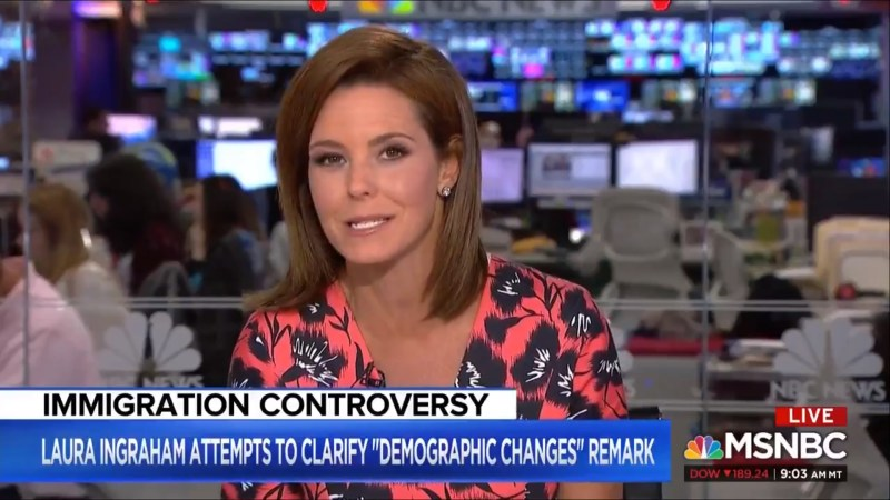 MSNBC's Steph Ruhle On Ingraham: 'At Worst, These Are The Words Of A White Supremacist'