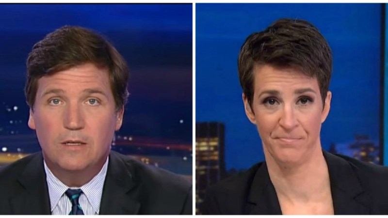 Tucker Carlson Leads Cable News Ratings on Tuesday Night, Maddow Beats Hannity in Key Demo