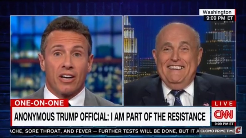 Giuliani Suggests NYT 'Orchestrated' Anonymous Op-Ed: 'How Much Is The Times Complicit?'