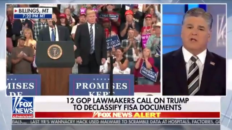 Powered By Trump Rally, Hannity Dominates Cable News Ratings On Thursday Night