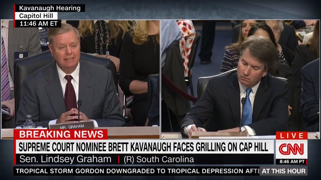 Brett Kavanaugh Whiffs When Given Chance To Address Parkland Father Handshake Flap