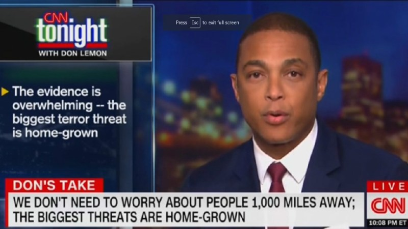 Don Lemon Defends Claim That White Men Are America's 'Biggest Terror Threat': 'Those Are The Facts'