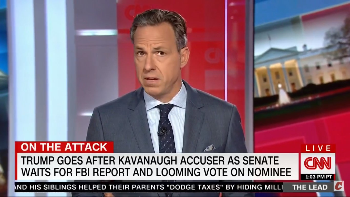 'There Appears To Be No Bottom': Tapper Reacts To Trump Mocking Christine Blasey Ford