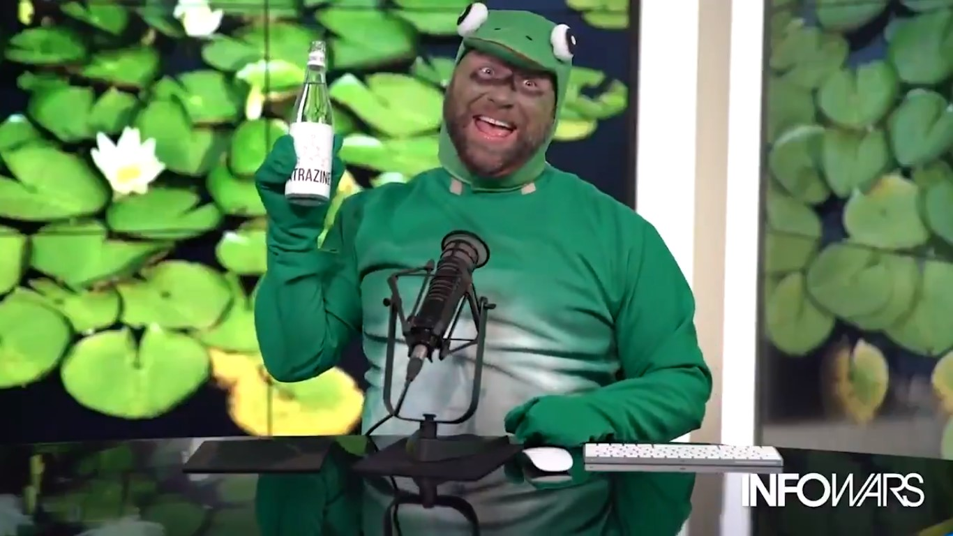 Alex Jones, Impersonating A Gay Frog, Out Here Having A Normal One