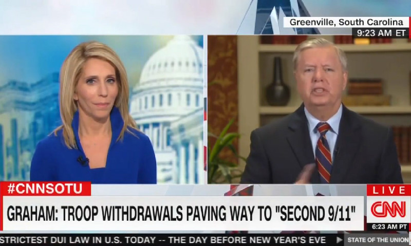 Lindsey Graham Snaps At CNN's Dana Bash Over Iraq: 'That's A Bunch Of Bullshit!'