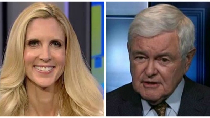 MAGA Fight! Ann Coulter Tells Newt Gingrich He's In The 'Kiss The Emperor's Ass Camp'