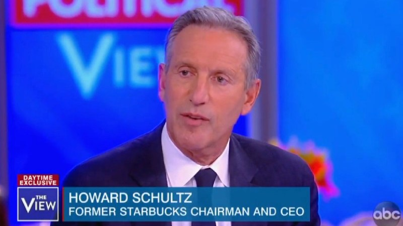 Howard Schultz Praises Article That Calls Kamala Harris 'Shrill' And Elizabeth Warren 'Fauxcahontas'