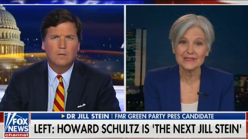 Jill Stein Goes On Tucker Carlson's Show To Defend Corporate Billionaire's Run For President