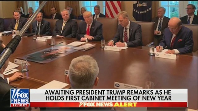 Trump Brings Poster Of 'Game Of Thrones' Tweet To First Cabinet Meeting Of 2019