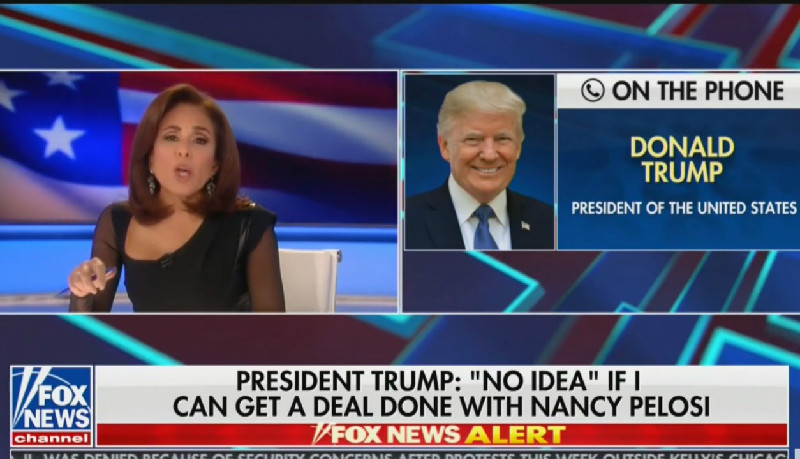 WATCH: Trump Doesn't Deny Being A Russian Agent When Directly Asked By Jeanine Pirro
