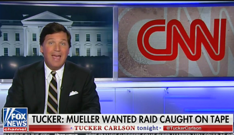 Tucker Carlson Reports As Fact That CNN 'Talked To Mueller's People Before' Roger Stone Raid
