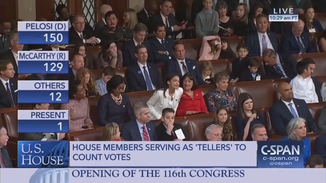 House Republicans Groan After Ocasio-Cortez Votes For Nancy Pelosi Because Of Course