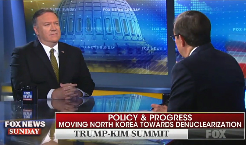 Chris Wallace Presses Mike Pompeo: Why Does Trump Say He 'Fell In Love' With Kim Jong-Un?