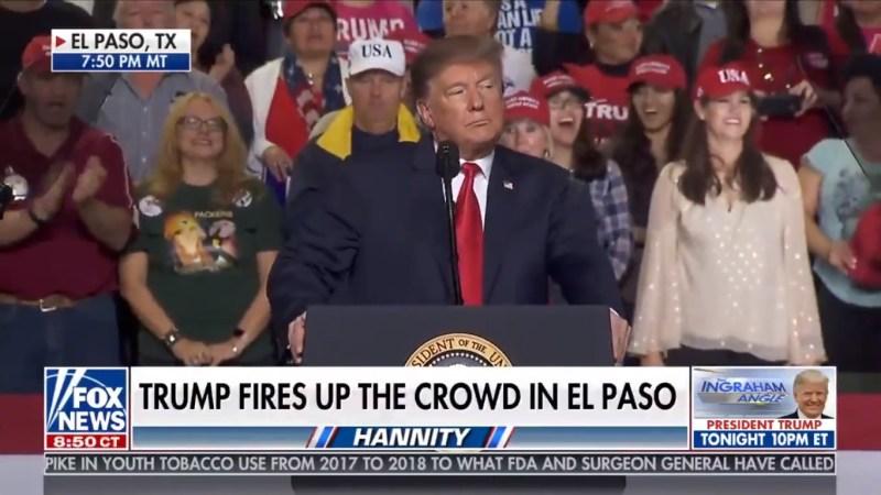 Fox News Rides Trump's El Paso Rally To Dominant Ratings Victory Monday Night