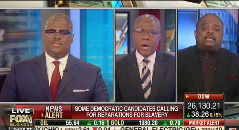 Fox Debate on Reparations Goes Off the Rails: 'Disgusting Idea' That 'Will Tear This Country Apart!'