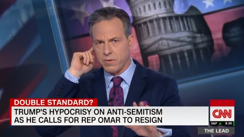 WATCH: Tapper Satirically Tangles With Control Room For Going 'Rogue,' Showing Trump's Hypocrisy
