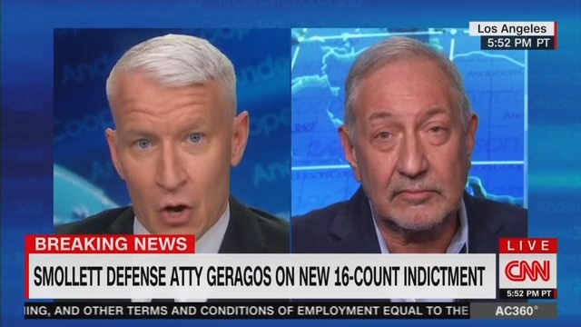 Lawyer Tells Anderson Cooper That Jussie Smollett Is Victim Of 'Media Gangbang'