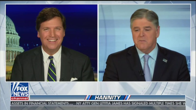 Hannity Wishes Tucker a 'Great Rest of Vacation,' Fox Clarifies Carlson Will Be On Air This Week