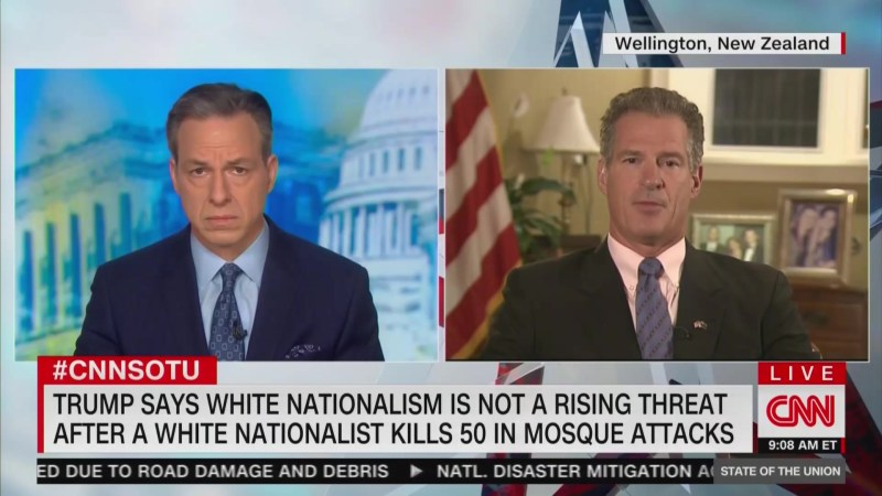 US Amb. to New Zealand Scott Brown Dodges When Asked About Trump Downplaying White Nationalism