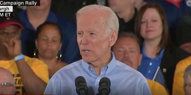 Joe Biden Tells Crowd 'This Country Wasn't Built by Wall Street' in Raucous Campaign Kickoff