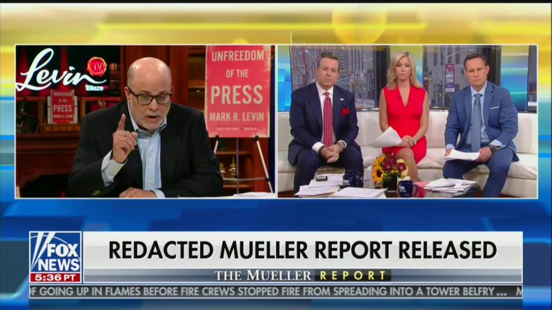 Mark Levin Flies Into Spittle-Flecked Rage Over Mueller Report, Leaves Fox Host Shellshocked