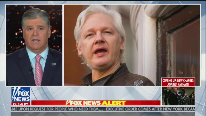 Hannity Reacts to Assange Arrest: WikiLeaks Has Better Track Record Than 'Fake News Media'