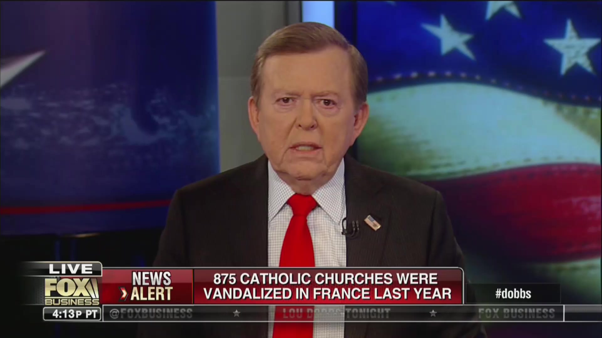 Fox's Lou Dobbs: 'Political Decision' Made When Ruling Out Arson in Notre Dame Fire