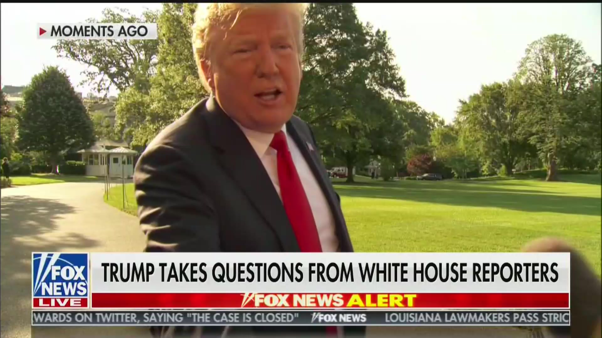Trump Shakes Fox News Reporter's Hand, Thanks Him for Treating Him 'Fairly'