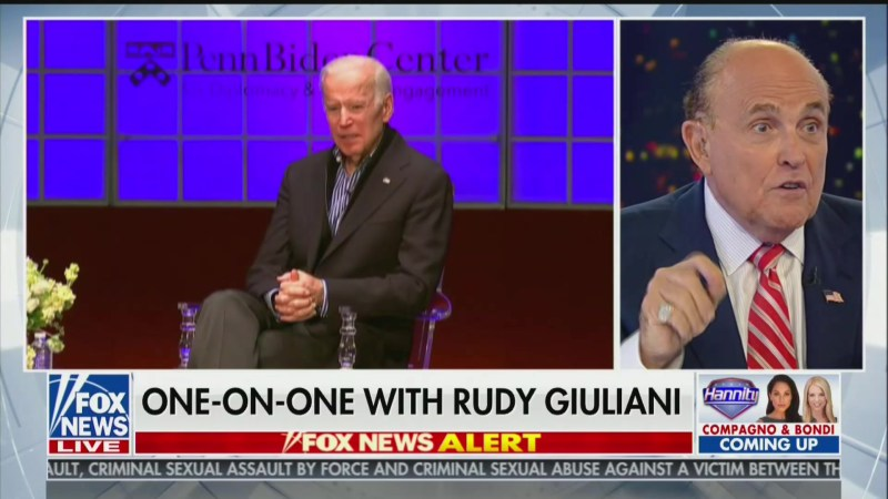 Rudy Giuliani Steps Up Biden Attacks With New Ukraine Conspiracy Theory