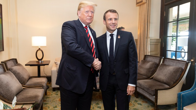French President Sends Trump New Tree After 'Friendship Tree' Died