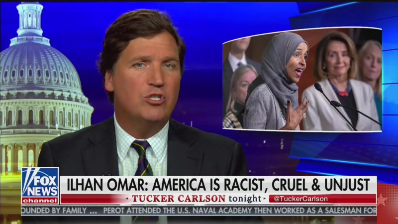 Tucker Carlson: Ilhan Omar Is a 'Living Fire Alarm' on Immigration