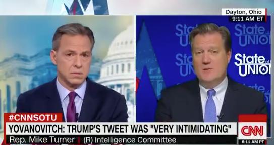 Tapper Grills GOP Rep. Over Trump's Yovanovitch Tweet: 'How Is It Not Witness Intimidation?'
