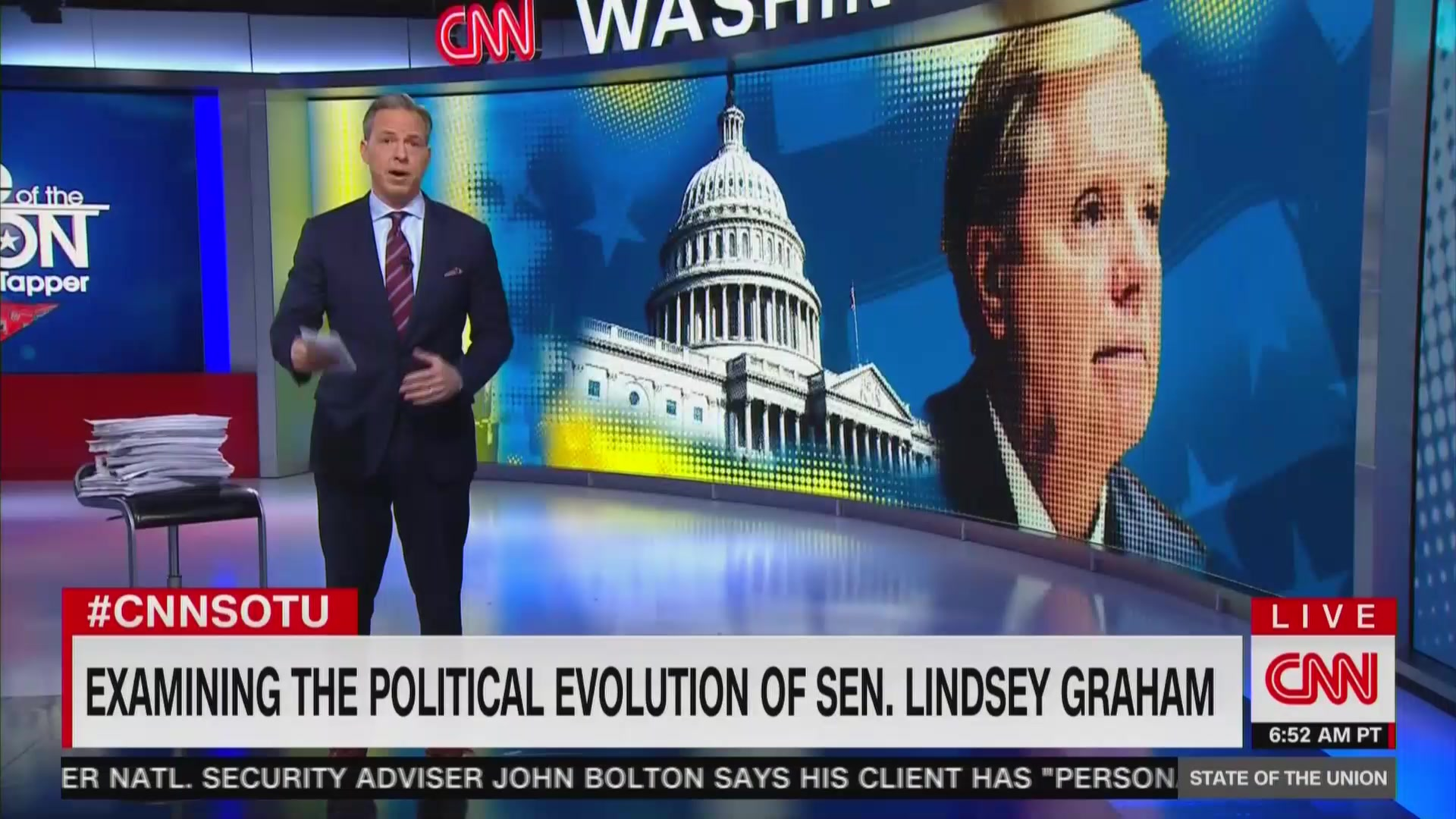 Tapper Calls Out Lindsey Graham: 'Coherence Is Not Particularly Evident' in His Impeachment Position