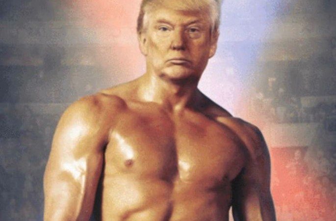 Trump Mocked For Posting Photo of Himself as Rocky Balboa