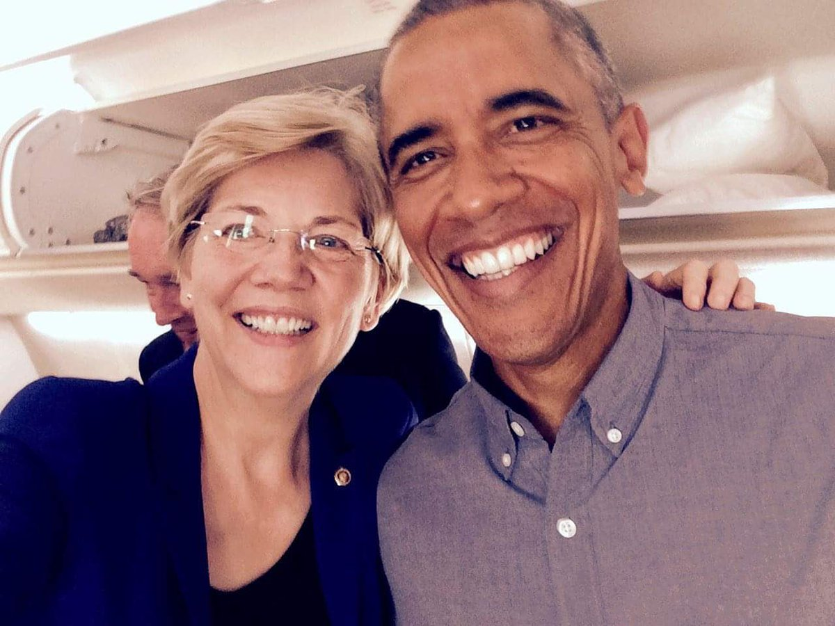 Obama Has 'Gone to Bat' for Elizabeth Warren with Wealthy Democratic Donors