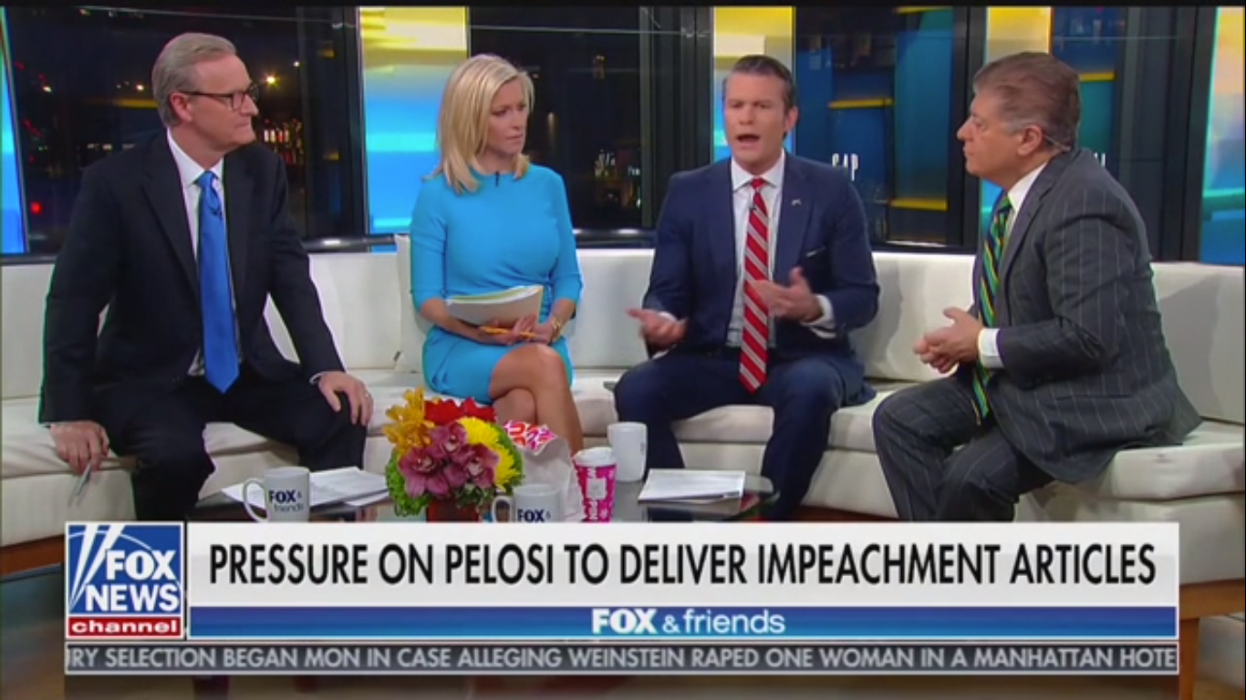 Fox's Judge Nap Clashes with Pete Hegseth on Bolton Testimony: Impeachment Trial 'Is a Search for the Truth'