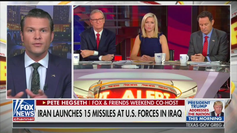 Fox News' Pete Hegseth Calls for America to 'Rewrite the Rules' of War With Iran