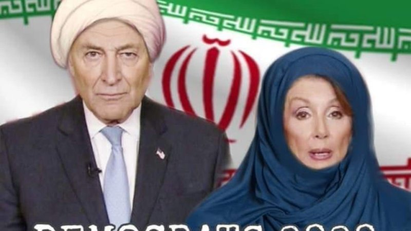 Trump Retweets Photoshopped Image of Pelosi and Schumer in Front of Iranian Flag